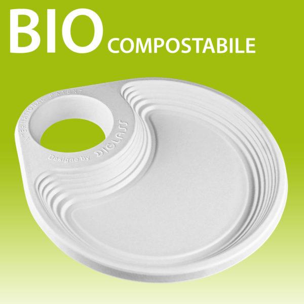 Piatto porta bicchiere BIO compostabile riciclabile