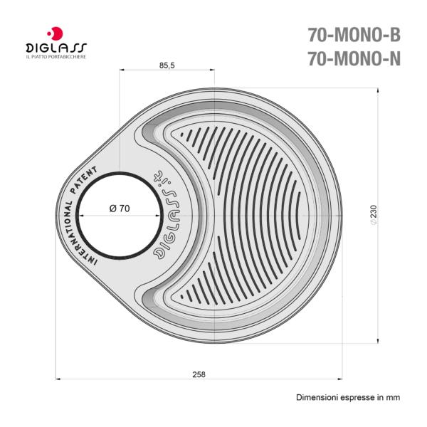 Deluxe Monoscomparto Neri - 120 piatti
