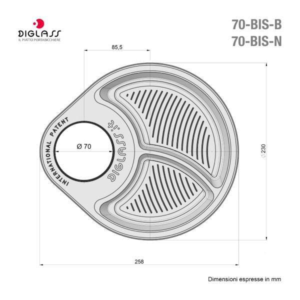 Deluxe Biscomparto Neri - 120 piatti