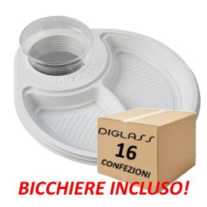 Deluxe Biscomparto Bianchi - 480 piatti spedizione gratuita!