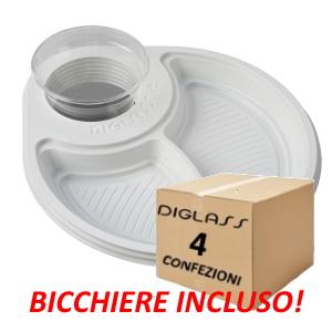 Deluxe Biscomparto Bianchi - 120 piatti