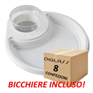 Deluxe Monoscomparto Bianchi - 240 piatti spedizione gratuita!