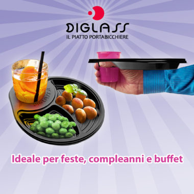 DIGLASS Il piatto per feste e party