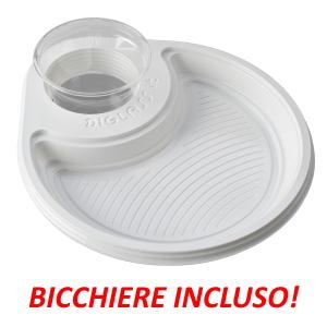 30 piatti, linea Deluxe Monoscomparto Bianchi (70-MONO-B)