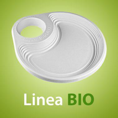 Linea BIO - Biodegradabile, realizzato al 100% in fibre vegetali estratte da canna da zucchero, sterilizzato ai raggi ultravioletti, bio compostabile e reciclabile, utilizzabile anche in microonde!