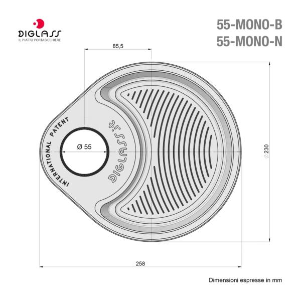 Party Monoscomparto Neri - 120 piatti
