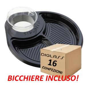 Deluxe Biscomparto Neri - 480 piatti spedizione gratuita!