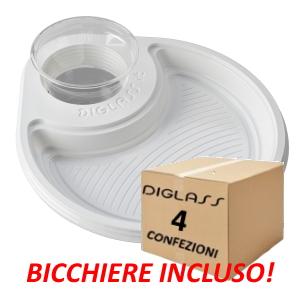 Deluxe Monoscomparto Bianchi - 120 piatti