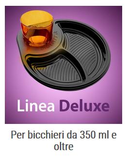 DIGLASS piatti monouso portabicchiere Linea Deluxe